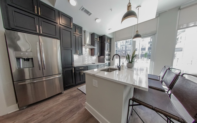 Spacious kitchen at 500 West Trade Apartments in Charlotte, NC