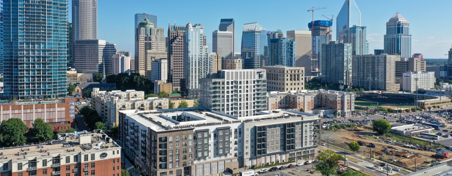 Welcome to 500 West Trade where Uptown Charlotte is in your backyard