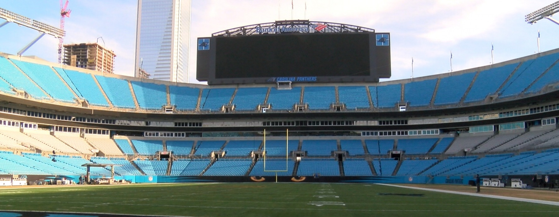 500 West Trade boasts luxury apartments near Bank of America Stadium and is a preferred housing option for the Carolina Panthers.